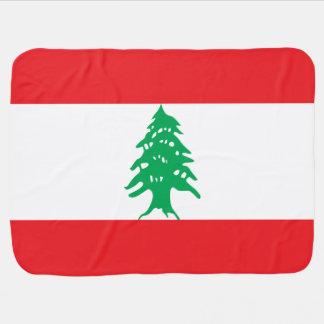 Lebanon Flag Baby Blanket