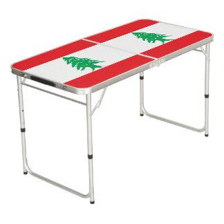 Lebanon Flag Beer Pong Table
