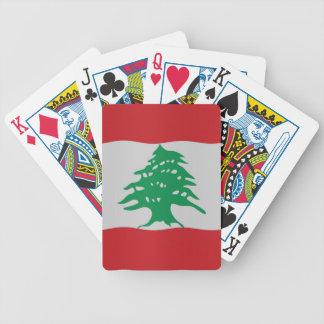 Lebanon flag bicycle playing cards
