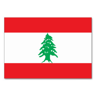 Lebanon Flag Card