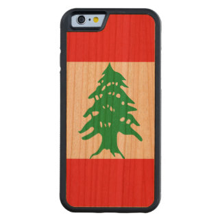 Lebanon Flag Carved Cherry iPhone 6 Bumper Case