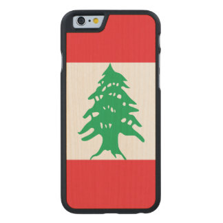 Lebanon Flag Carved Maple iPhone 6 Case