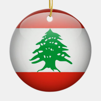 Lebanon Flag Circle Ornament