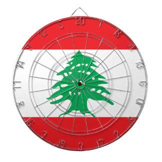 Lebanon Flag Dartboard