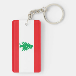 Lebanon Flag Double-Sided Rectangular Acrylic Keychain