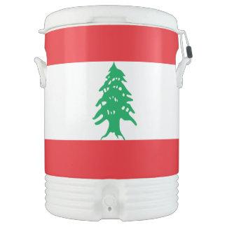 Lebanon Flag Drinks Cooler