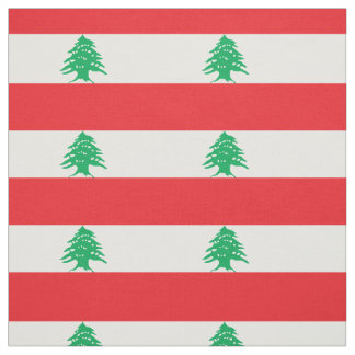 Lebanon Flag Fabric