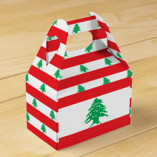 Lebanon Flag Favor Box