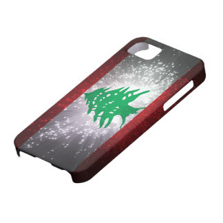 Lebanon Flag Firework iPhone 5 Cover