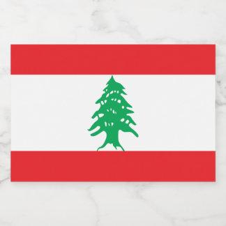 Lebanon Flag Food Label