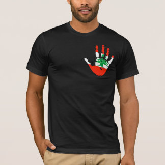 Lebanon Flag Handprint T-Shirt