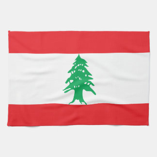 Lebanon Flag Kitchen Towel