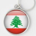 Lebanon Flag Large Premium Keychain