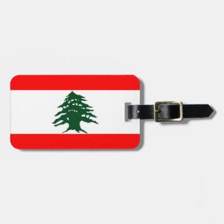 Lebanon Flag Luggage Tag
