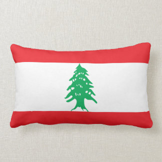 Lebanon Flag Lumbar Pillow