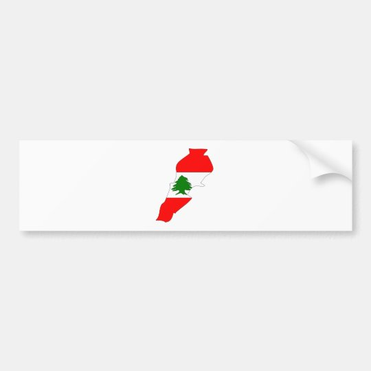 Lebanon Flag Map full size Bumper Sticker