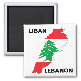 Lebanon Flag Map Magnet