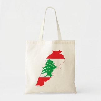 Lebanon Flag Map Tote Bag