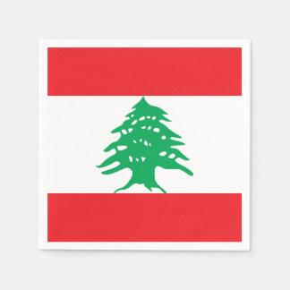 Lebanon Flag Paper Napkin