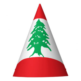 Lebanon Flag Party Hat
