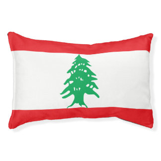 Lebanon Flag Pet Bed