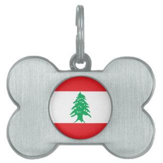 Lebanon Flag Pet ID Tag