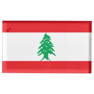 Lebanon Flag Place Card Holder