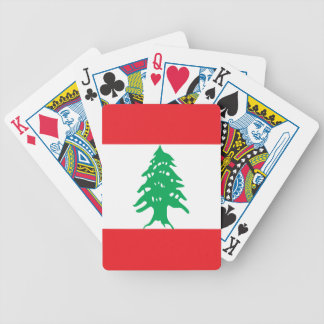 Lebanon Flag Poker Deck