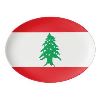 Lebanon Flag Porcelain Serving Platter