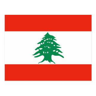 Lebanon Flag Postcard