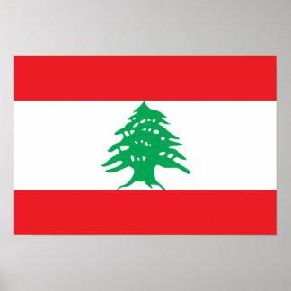 Lebanon Flag Poster