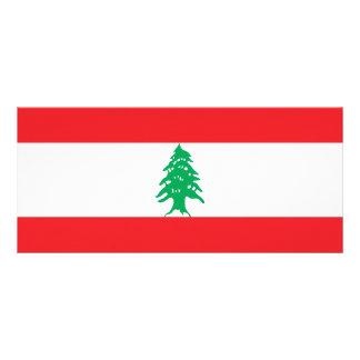 Lebanon Flag Rack Card