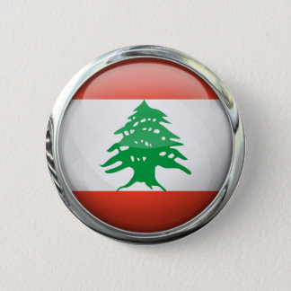Lebanon Flag Round Glass Ball 2 Inch Round Button