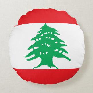 Lebanon Flag Round Pillow