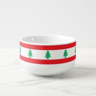 Lebanon Flag Soup Mug
