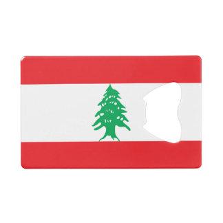 Lebanon Flag Wallet Bottle Opener