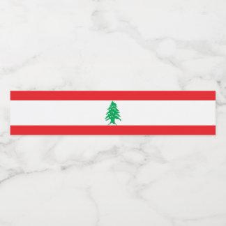 Lebanon Flag Water Bottle Label