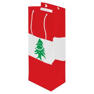 Lebanon Flag Wine Gift Bag