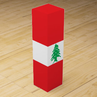 Lebanon Flag Wine Gift Box