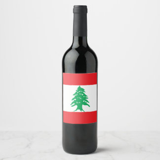 Lebanon Flag Wine Label