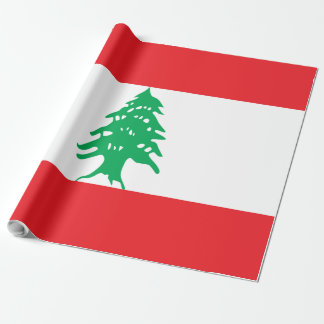 Lebanon Flag Wrapping Paper