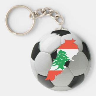 Lebanon football soccer keychain