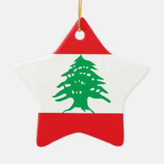 Lebanon – Lebanese Flag Ceramic Ornament