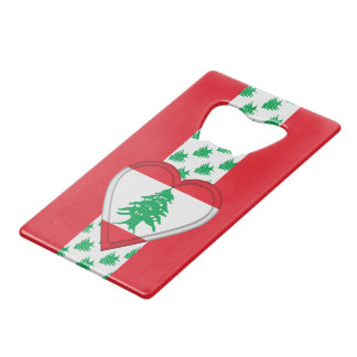 Lebanon Lebanese Flag Credit Card Bottle Opener