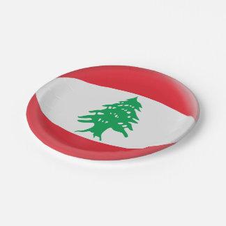 Lebanon Lebanese Flag Paper Plate