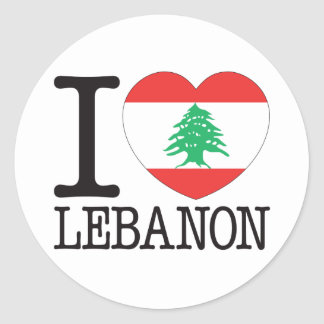 Lebanon Love v2 Classic Round Sticker