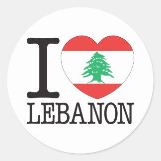 Lebanon Love v2 Round Sticker