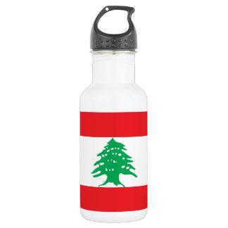 Lebanon National World Flag 532 Ml Water Bottle