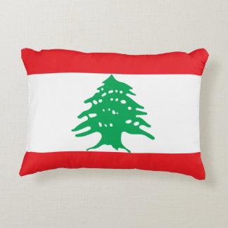 Lebanon National World Flag Accent Pillow