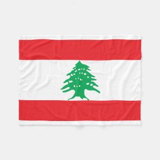 Lebanon National World Flag Fleece Blanket